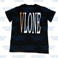 Vlone staple black orange tee