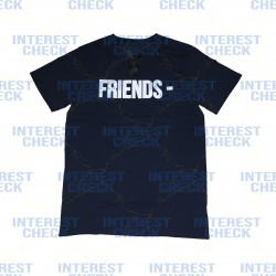 Vlone friends navy white tee